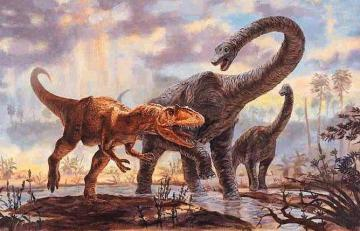 Acrocanthsaurus painting, O'Brian