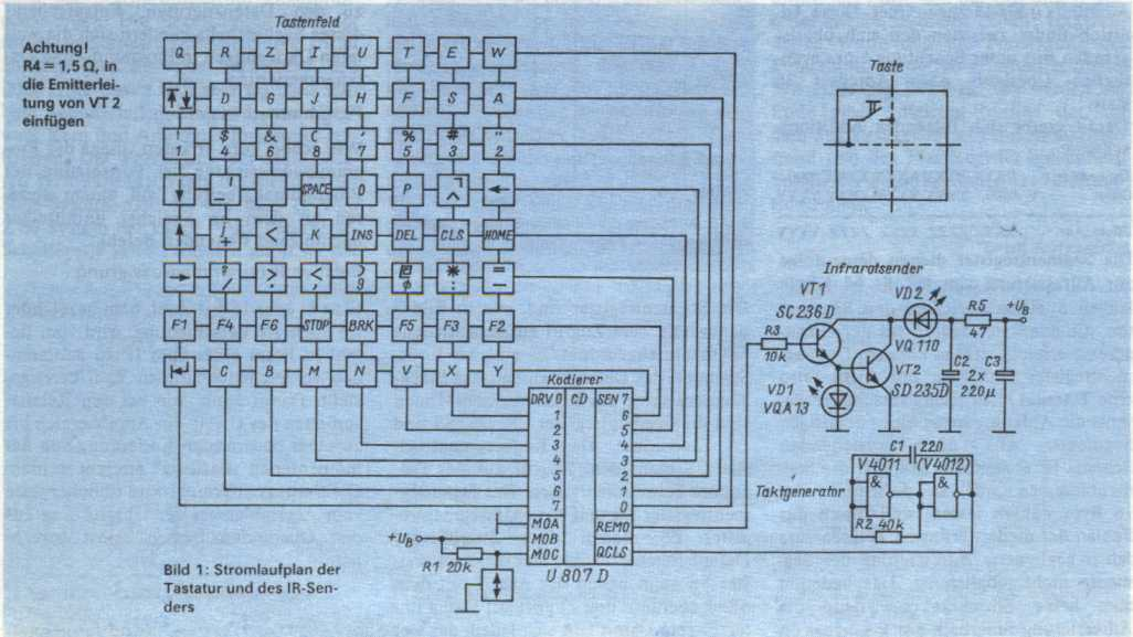 Infrarottastatur für KC85